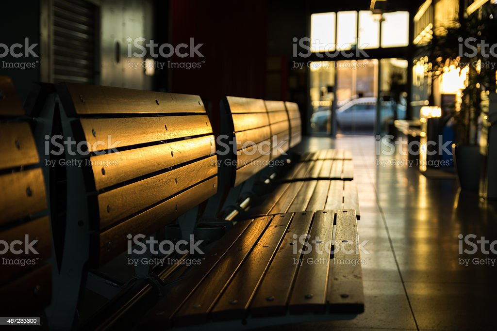 Waiting Seats stock photo