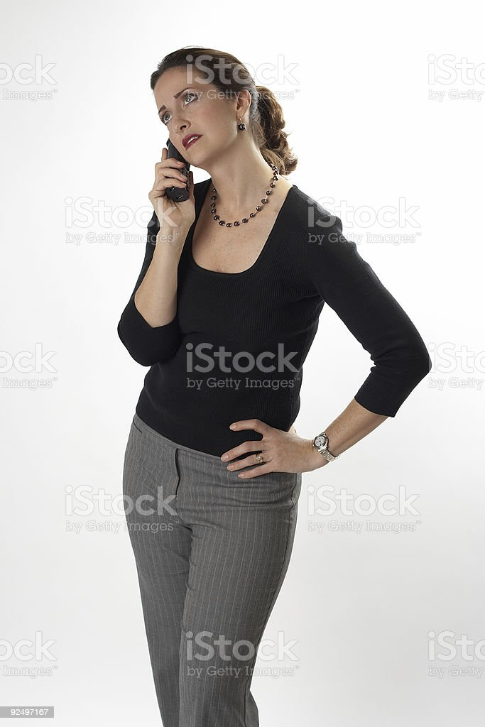 Waiting to answer the phone royalty-free stock photo