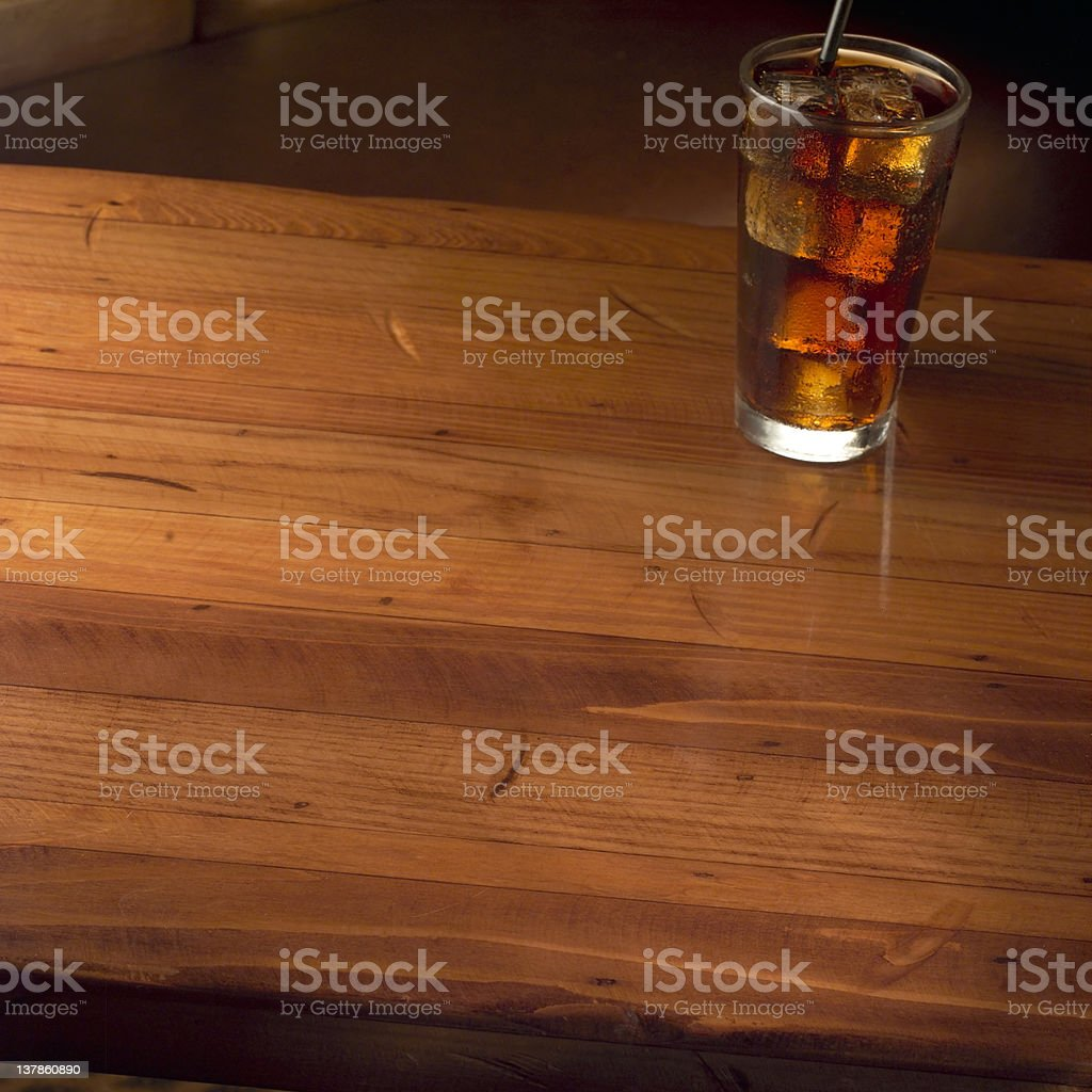 Waiting to be served. stock photo