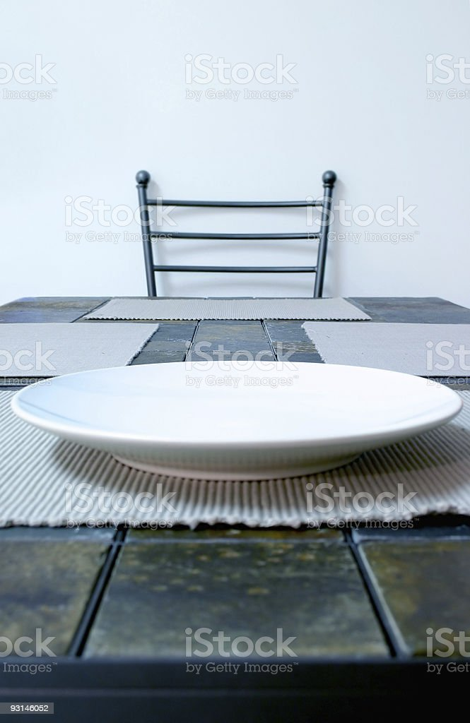 Waiting to be served royalty-free stock photo