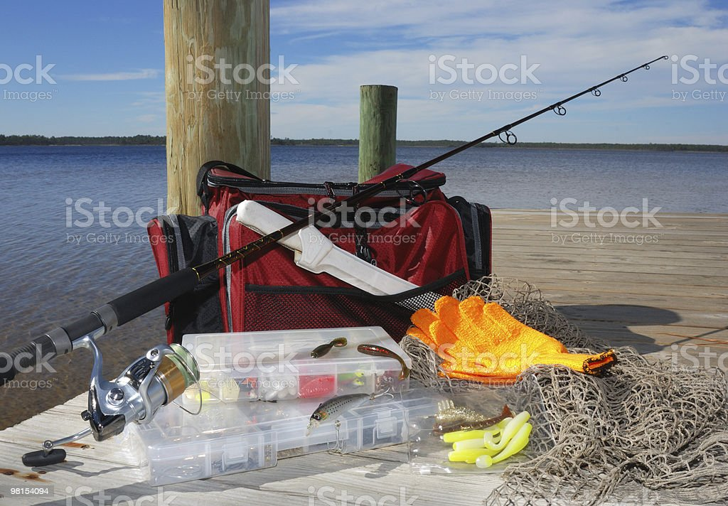 Waiting to go Fishing at the Dock royalty-free stock photo