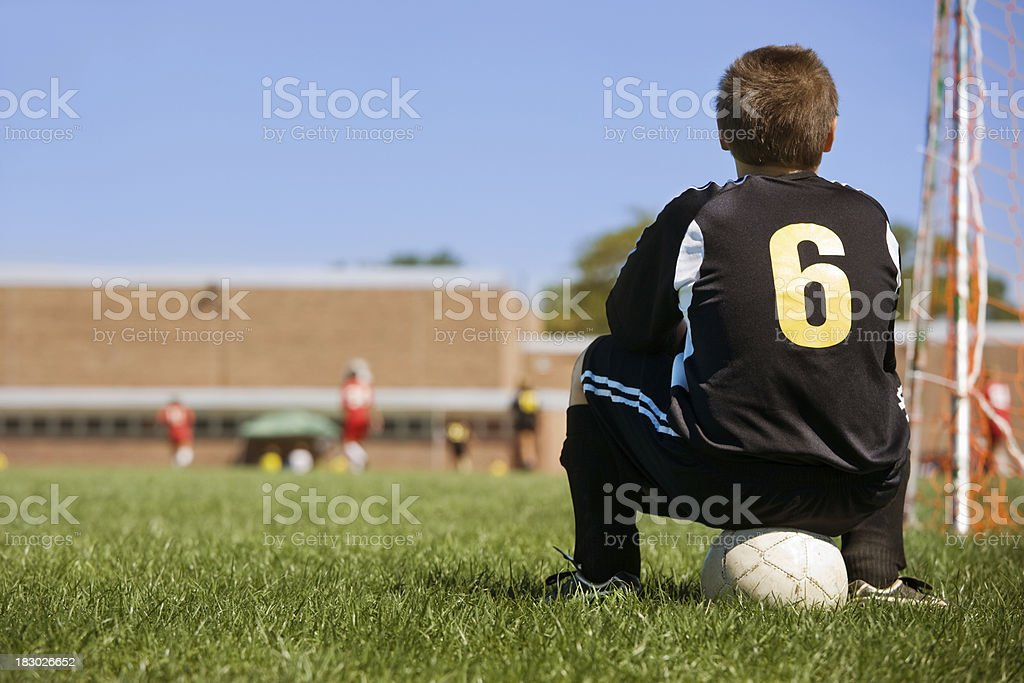 waiting to play royalty-free stock photo
