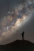 Person in the center of galaxy