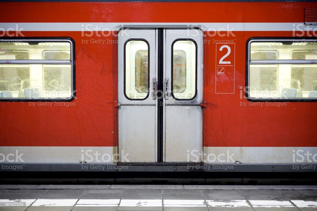 Waiting train royalty-free stock photo