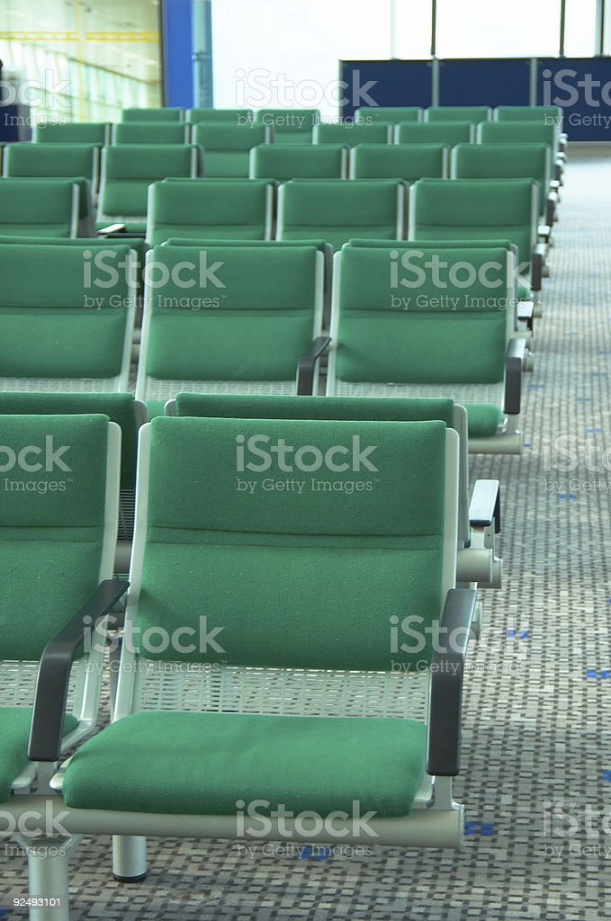 waiting zone, boarding, airport royalty-free stock photo