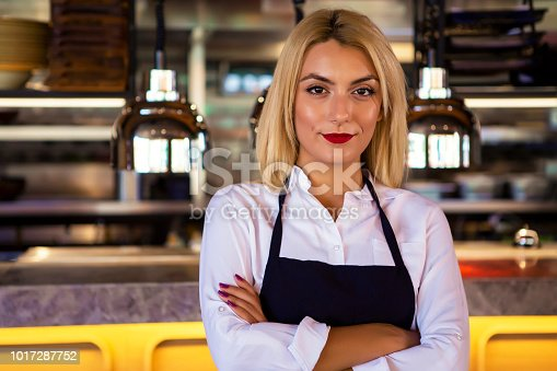 1066358064istockphoto Waitress at a coffee shop 1017287752