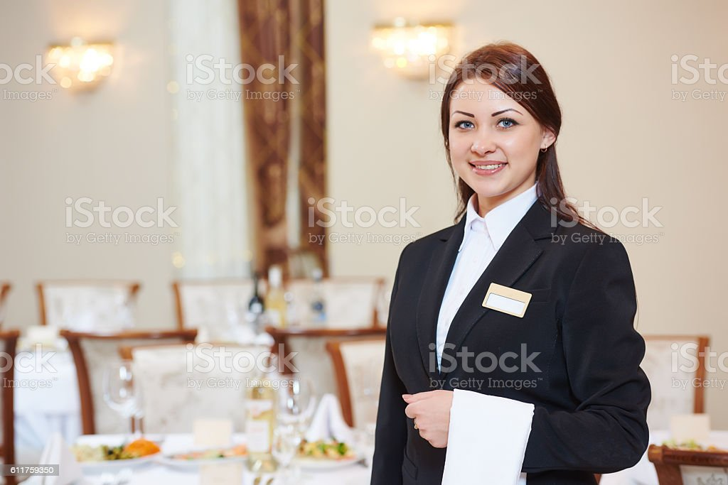waitress at catering service in restaurant – Foto