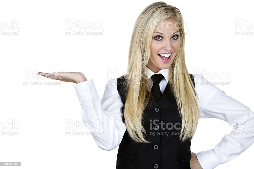 Waitress or barmaid royalty-free stock photo