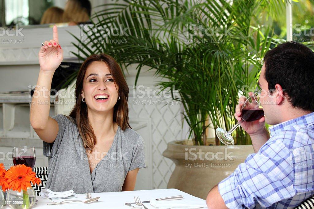 Waitress, please? stock photo