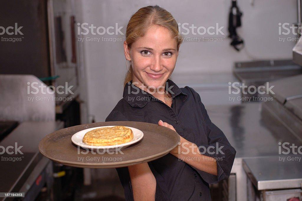 waitress serving royalty-free stock photo