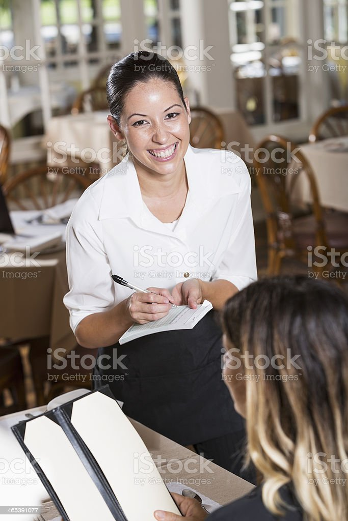 Waitress taking order royalty-free stock photo