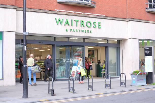 Waitrose supermarket UK stock photo