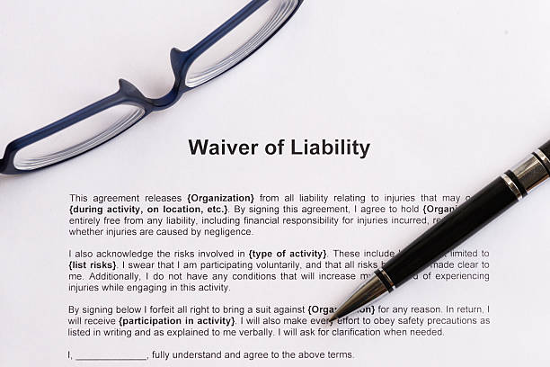 waiver of liability stock photo
