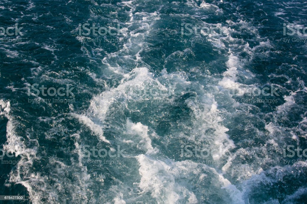 Wake jet with white foam photo libre de droits