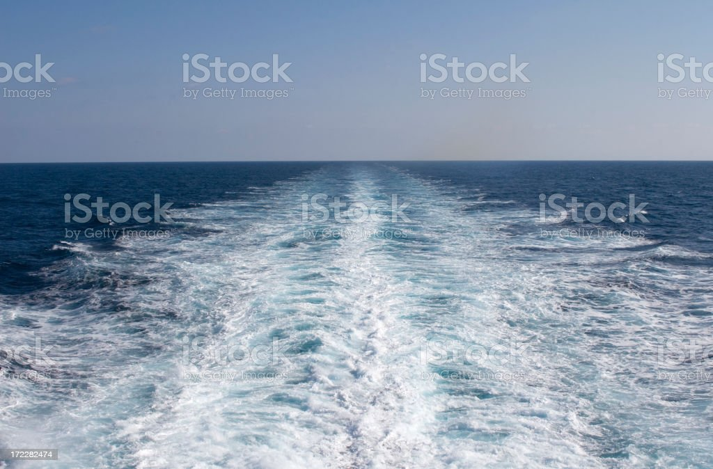 Wake royalty-free stock photo