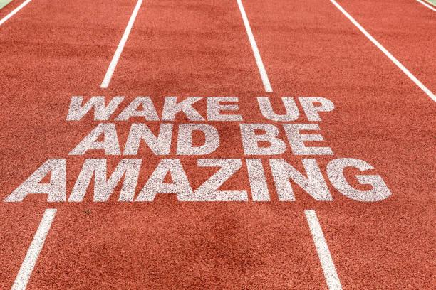aufwachen und erstaunlich - motivationsfitness zitate stock-fotos und bilder
