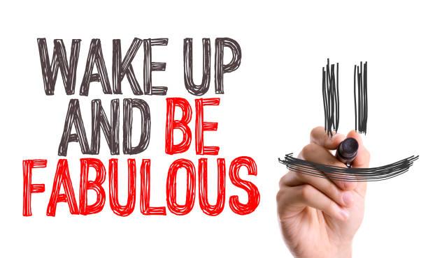 aufwachen und fabelhaft - motivationsfitness zitate stock-fotos und bilder