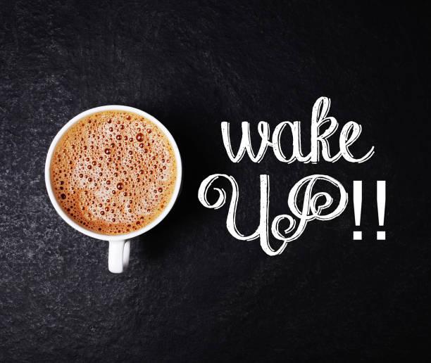 Wake Up Coffee stock photo