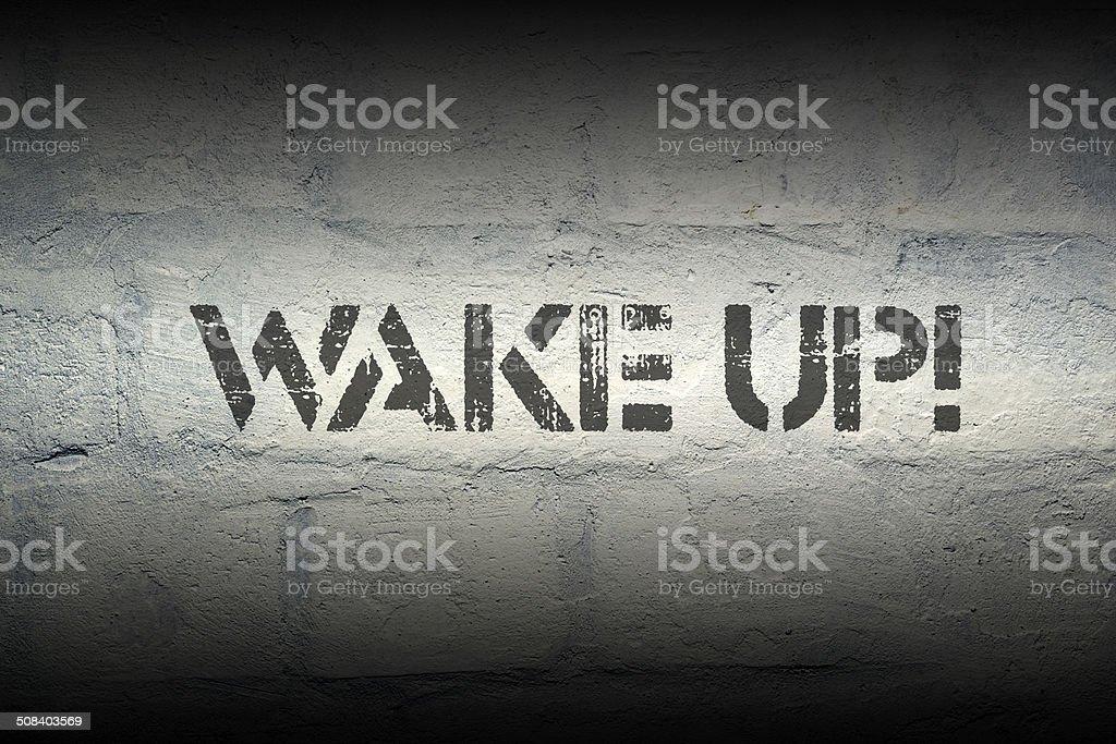 wake up stock photo