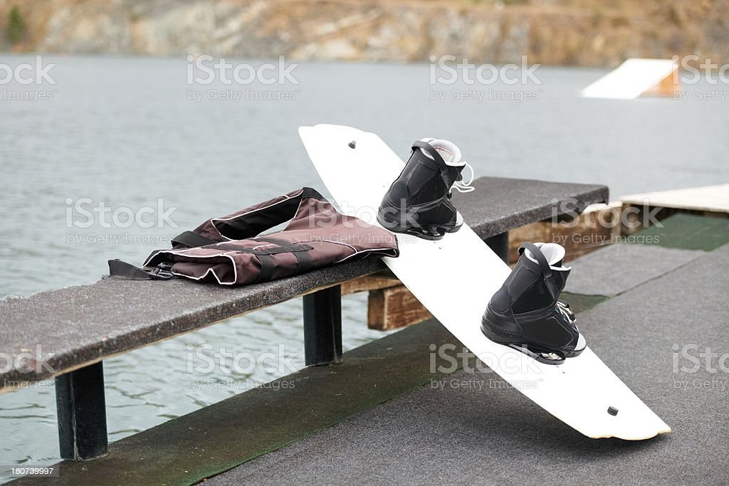 Wakeboard and kit royalty-free stock photo