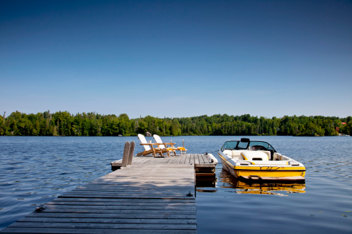 Wakeboard boat and Dock
