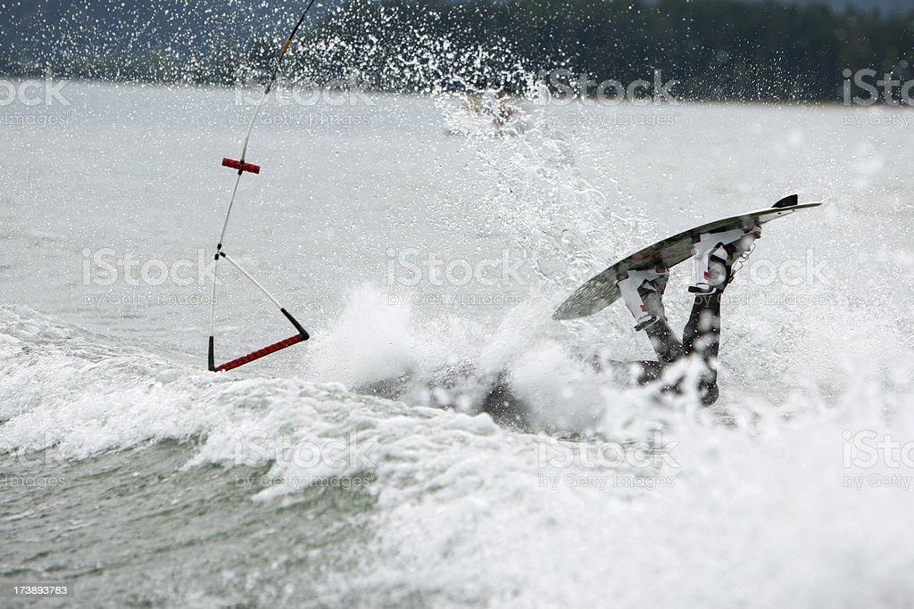 wakeboard crash royalty-free stock photo