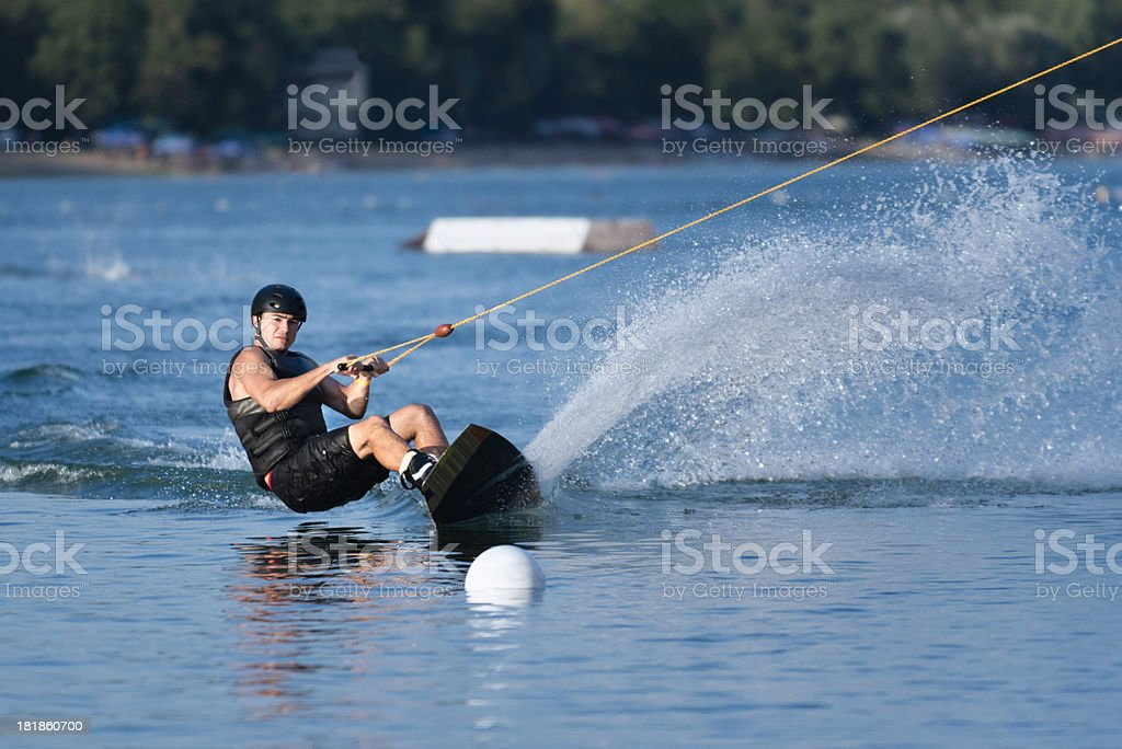Wakeboard rider royalty-free stock photo