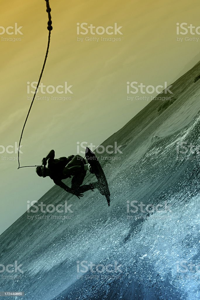 Wakeboard Silouette royalty-free stock photo