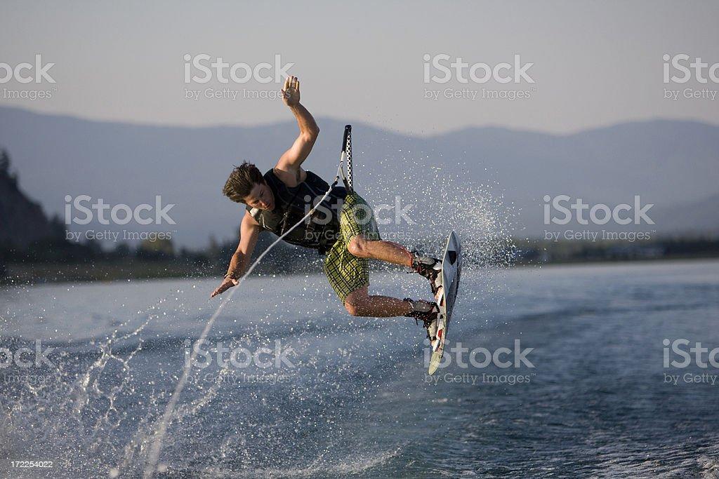 Wakeboarder Crashing royalty-free stock photo