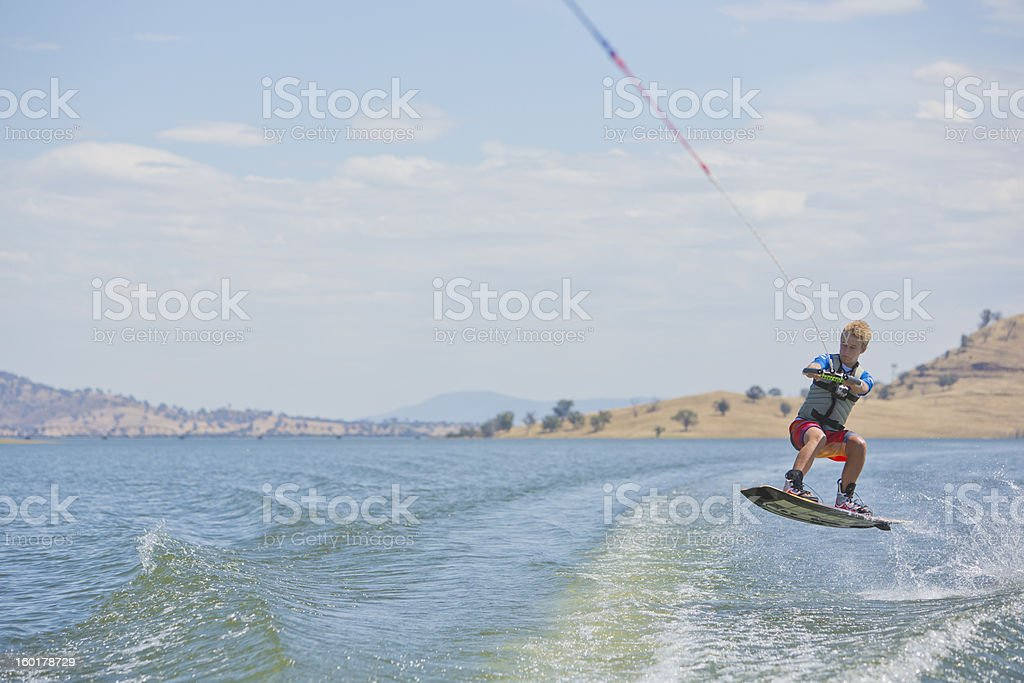 Wakeboarder Jumping royalty-free stock photo