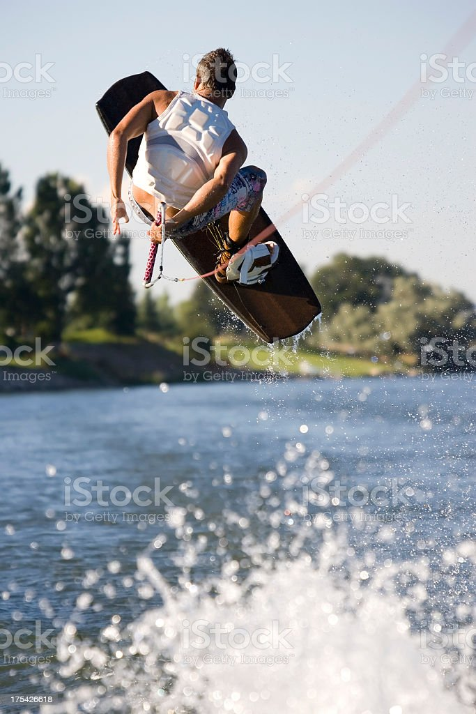 Wakeboarder-Behind the Back royalty-free stock photo