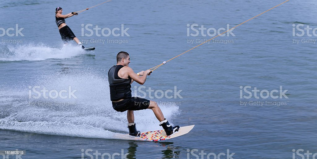 Wakeboarders royalty-free stock photo
