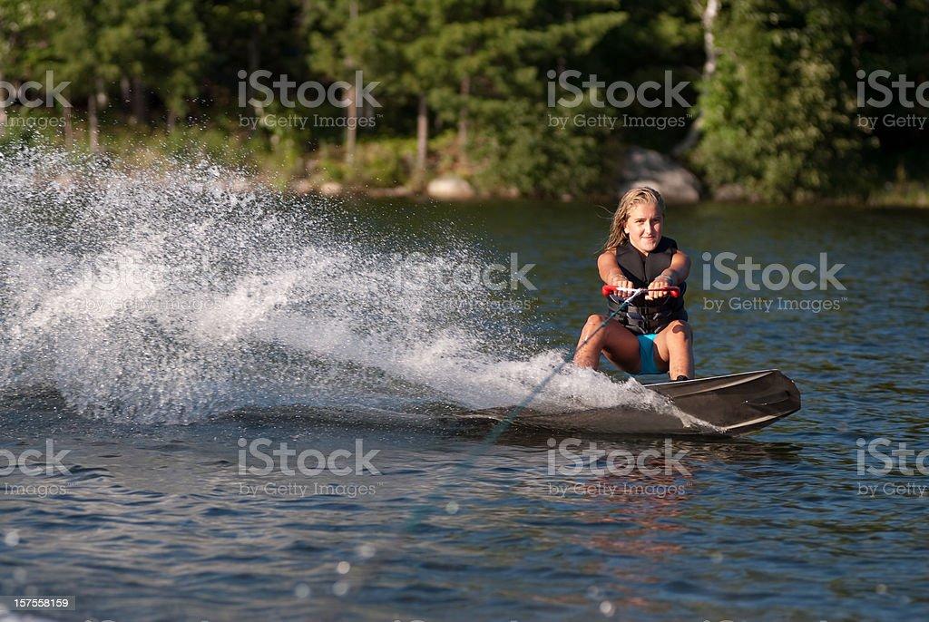 Wakeboarden Mädchen - Lizenzfrei Aktivitäten und Sport Stock-Foto