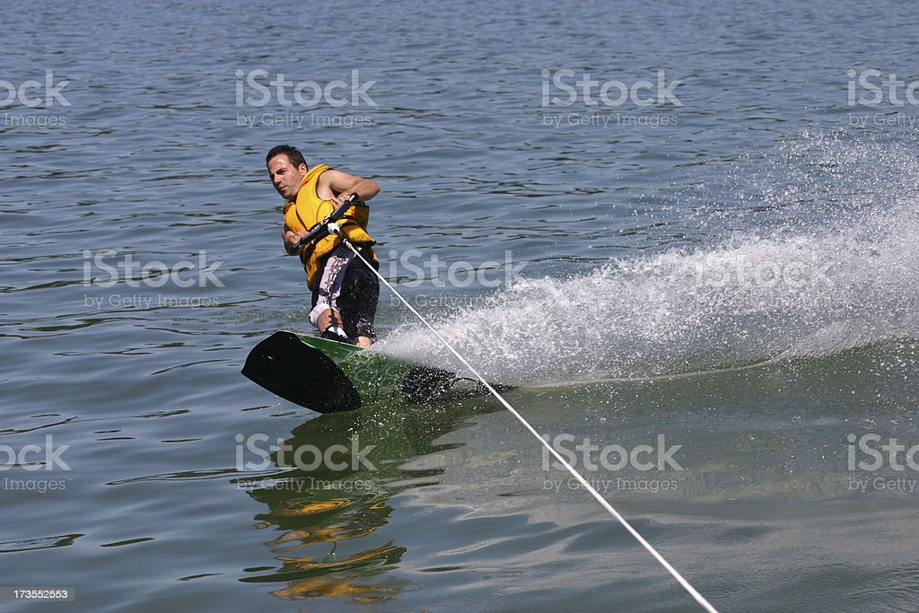 Wakeboarding in New Zealand royalty-free stock photo