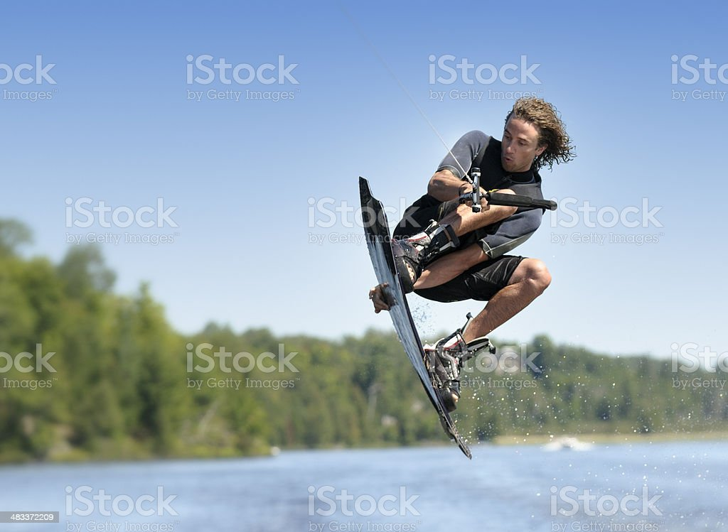 Wakeboarding stock photo
