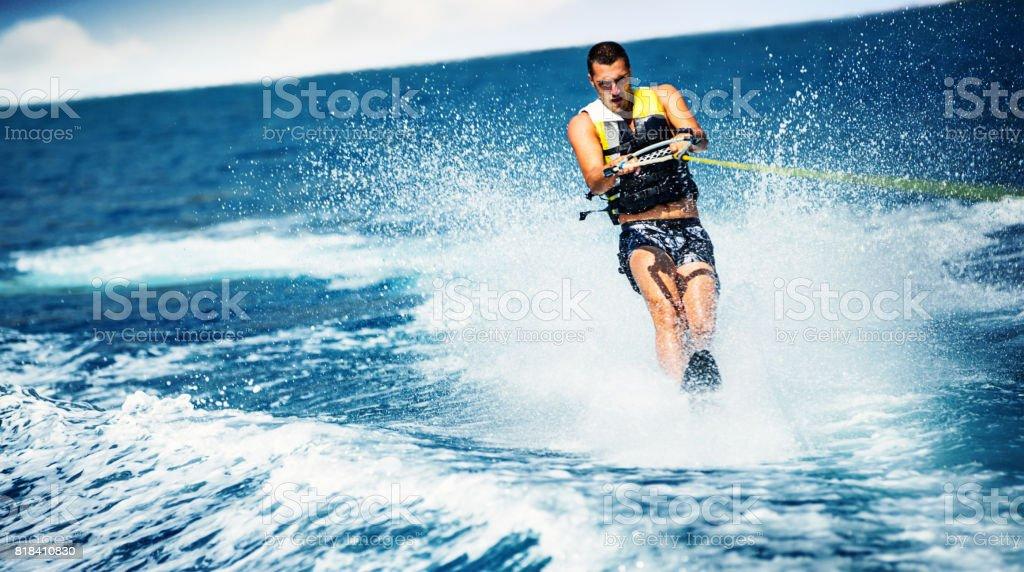 Wakeboarding. stock photo