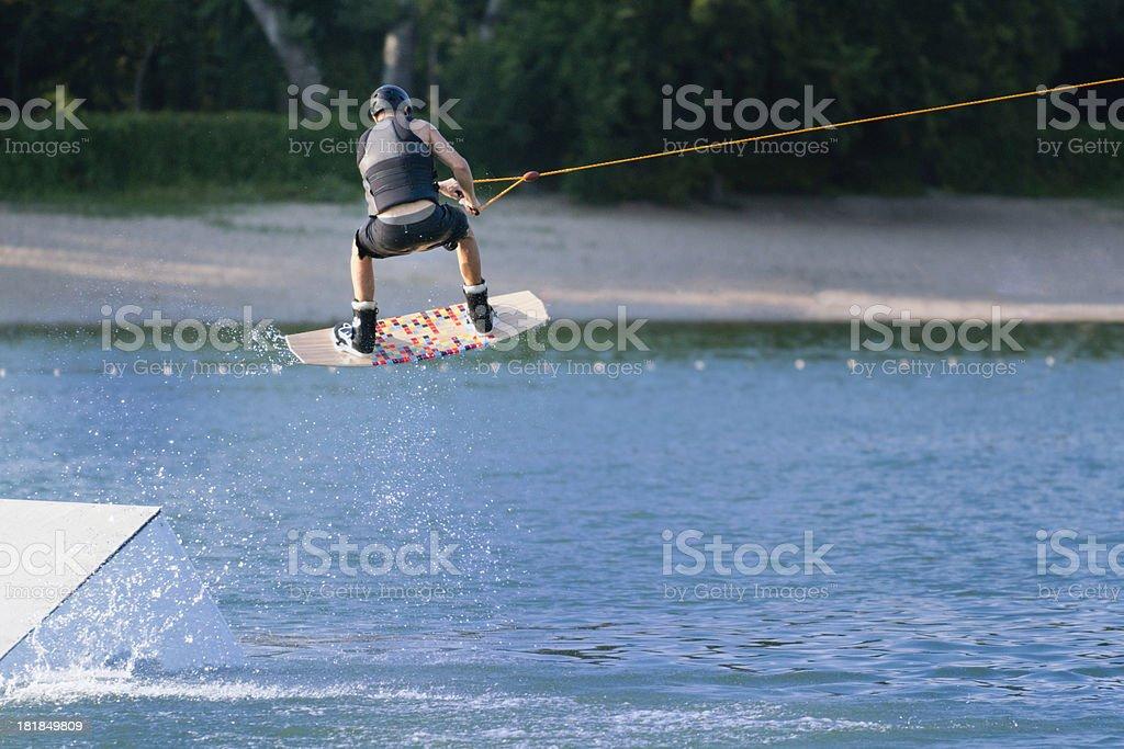 Wakeboarding stunt royalty-free stock photo