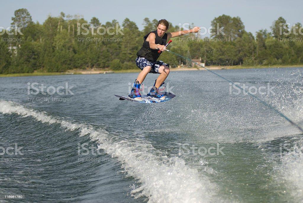 Wakeboarding teen royalty-free stock photo