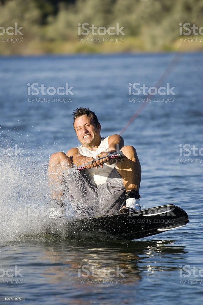 Wakeboarding-Butt Check royalty-free stock photo