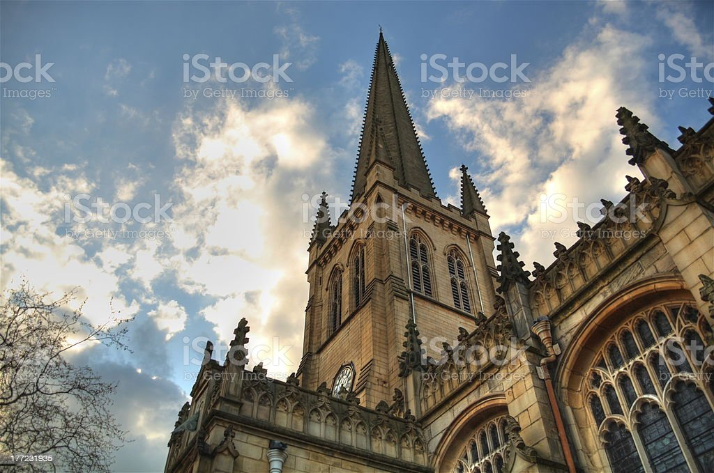 Wakefield Cathedral. stock photo