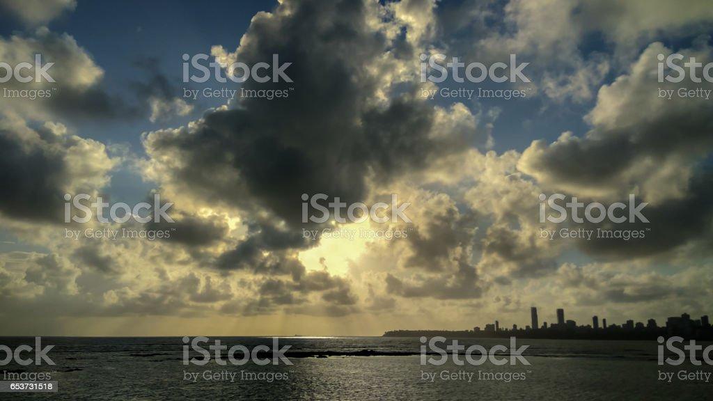 Wakeful Sunset stock photo