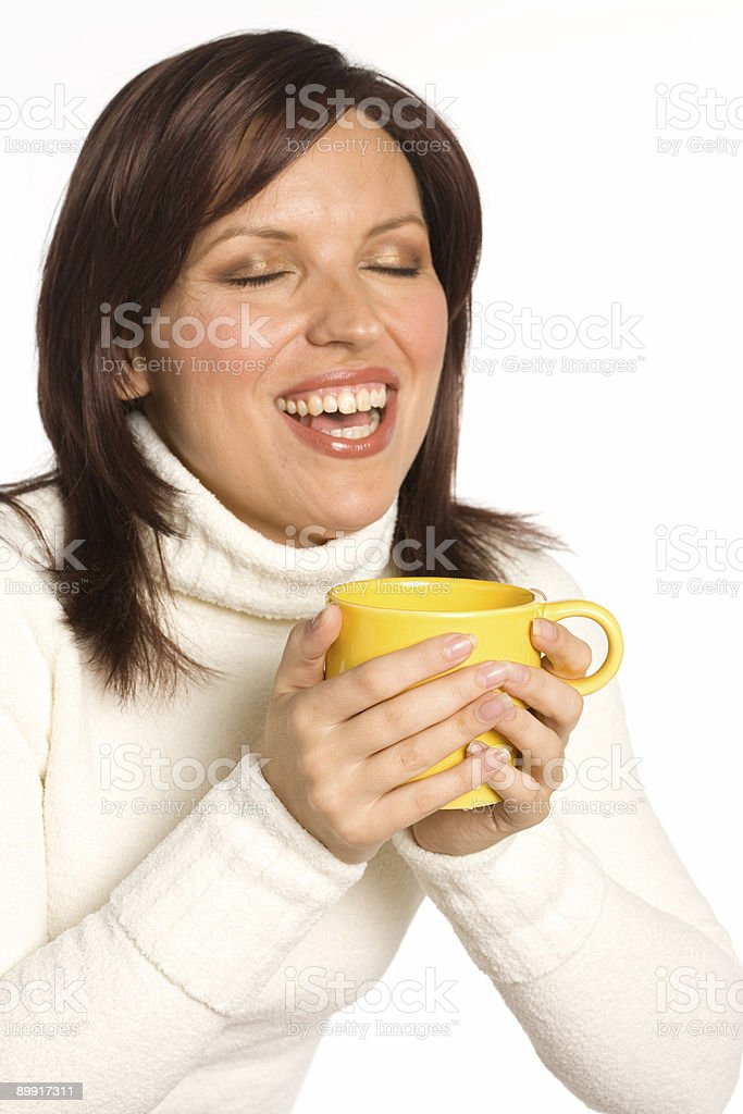 Wakeup and smell the coffee stock photo