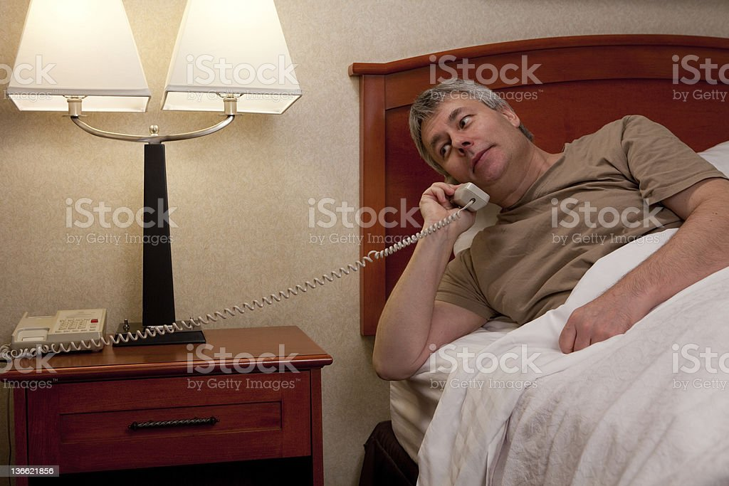 Wakeup call or Room Service stock photo