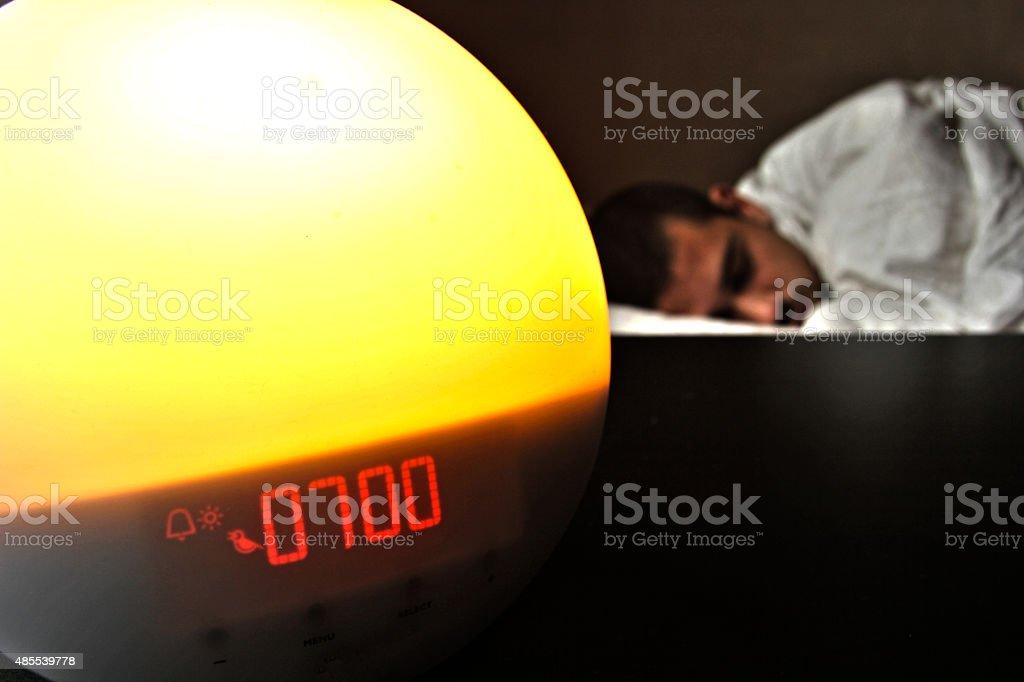 wake-up light stock photo