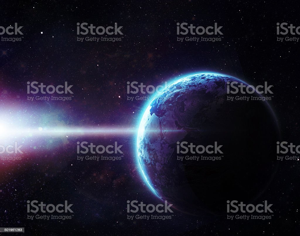 Waking up a sleepy planet royalty-free stock photo