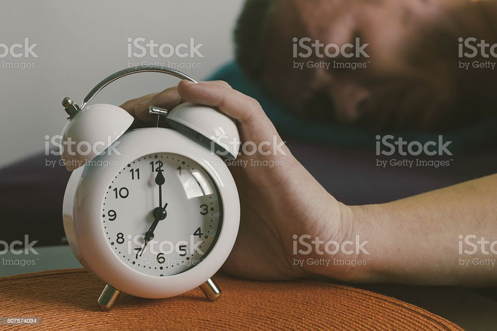 Waking up early in the morning stock photo