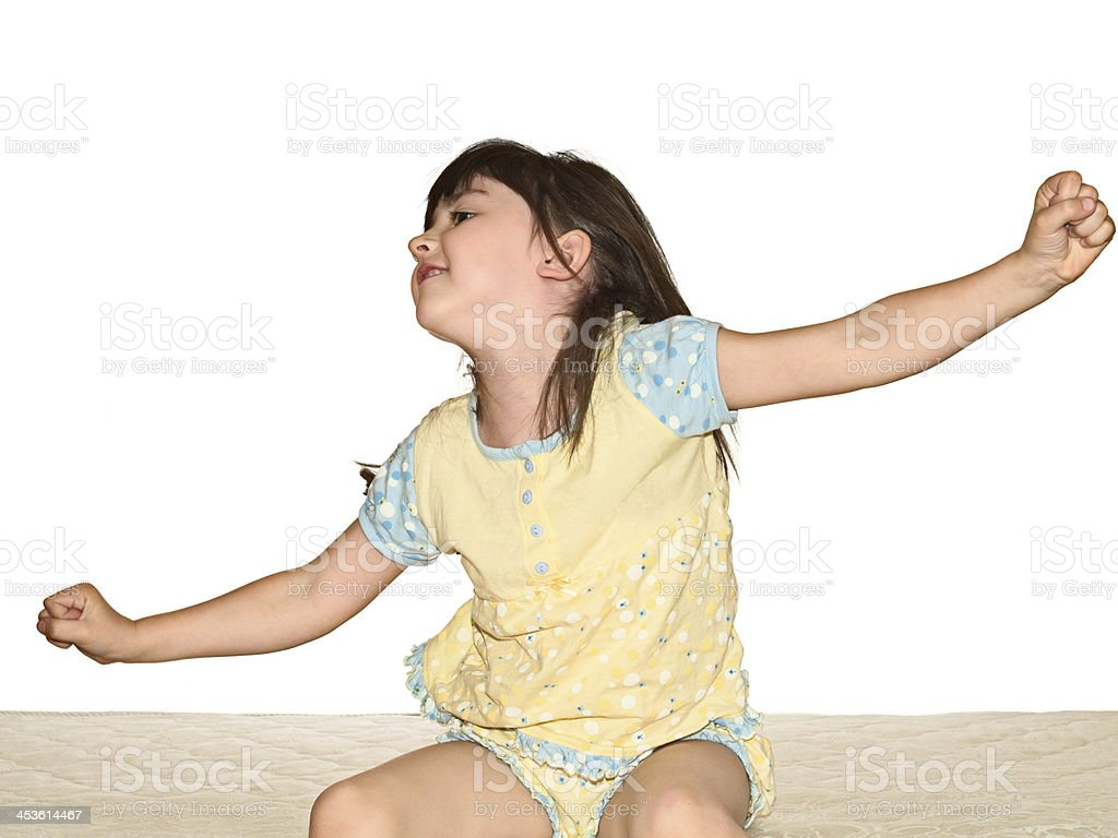 Waking up girl royalty-free stock photo