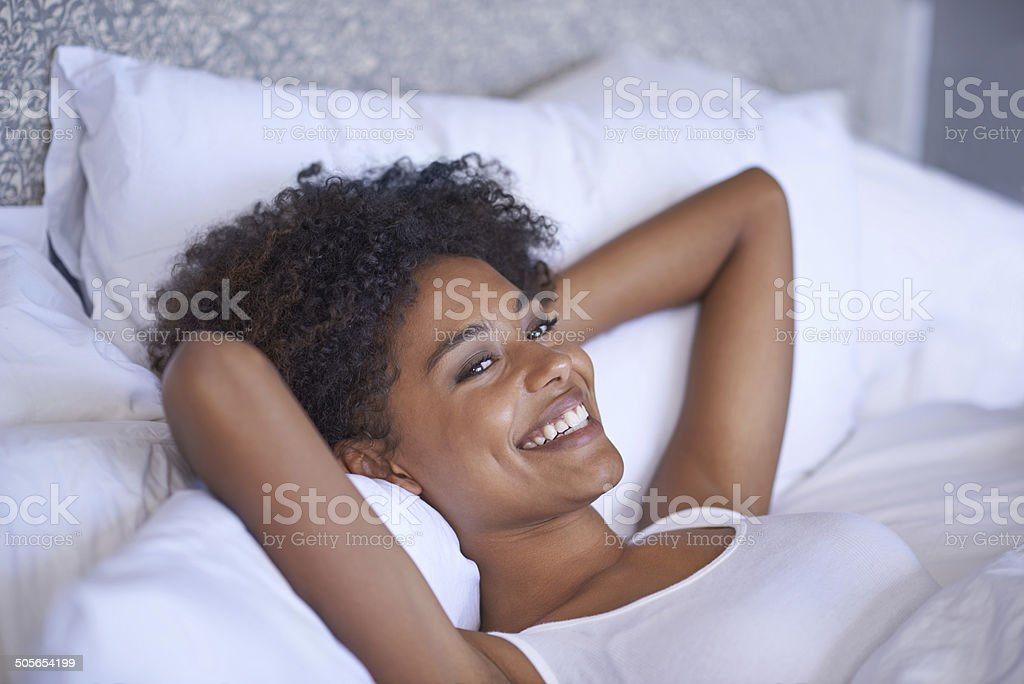 Waking up nice and slowly on a weekend stock photo