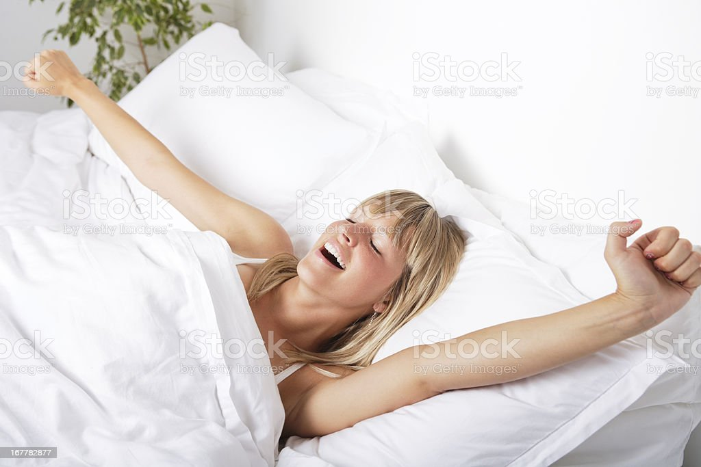 Waking up royalty-free stock photo