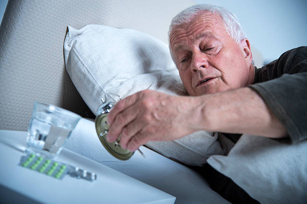 waking up - sleeping pill stock photos and pictures